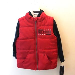 NWT Boys Tommy Hilfiger Vest And Sweater Set 4T